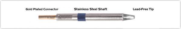"Thermaltronics K60CH025 Chisel 30deg 2.5mm (0.10"")"