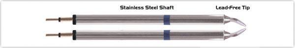 """Thermaltronics K60TZ015 Tweezers Cartridge Pair - Chisel 1.5mm (0.06"""")"""