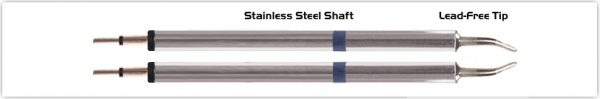 "Thermaltronics K60TZ018 Tweezers Cartridge Pair - Long Reach Chisel 1.78mm (0.07"")"