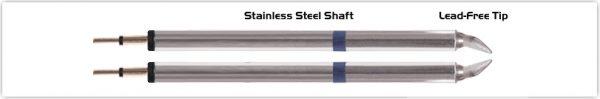 "Thermaltronics K60TZ018B Tweezers Cartridge Pair - Chisel 1.78mm (0.07"")"