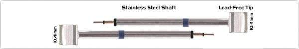 """Thermaltronics K60TZ100 Tweezers Cartridge Pair - Blade Tip 10.41mm (0.41"""")"""