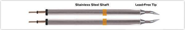 """Thermaltronics K70TZ004 Tweezers Cartridge Pair - Bent 30deg Sharp 0.4mm (0.016"""")"""