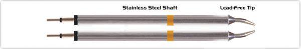 """Thermaltronics K70TZ010 Tweezers Cartridge Pair - Conical Sharp 1.0mm (0.04"""")"""