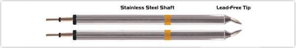 "Thermaltronics K70TZ010B Tweezers Cartridge Pair - Chisel 1.00mm (0.04"")"