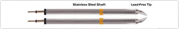 "Thermaltronics K70TZ018B Tweezers Cartridge Pair - Chisel 1.78mm (0.07"")"