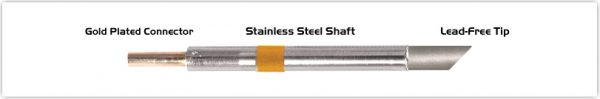 "Thermaltronics K75BVF060 Bevel 45deg 6.00mm (0.24""), Tin Area Face Only"