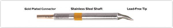 "Thermaltronics K75CB012 Chisel Bent 30deg 1.2mm (0.05"")"