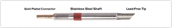 "Thermaltronics K80BVF050 Bevel 45deg 5.00mm (0.20""), Tin Area Face Only"