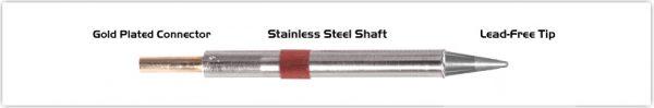 "Thermaltronics K80CS014 Conical Sharp 1.4mm (0.055"")"