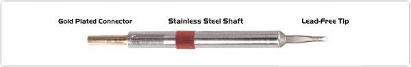 "Thermaltronics K80LR018A Chisel Long Reach 1.78mm (0.07"")"