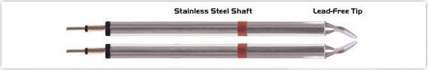 """Thermaltronics K80TZ015 Tweezers Cartridge Pair - Chisel 1.5mm (0.06"""")"""
