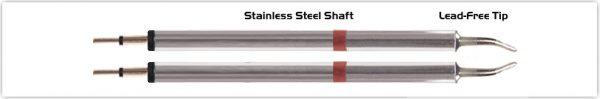 "Thermaltronics K80TZ018 Tweezers Cartridge Pair - Long Reach Chisel 1.78mm (0.07"")"