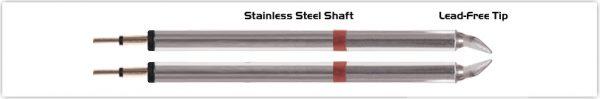 "Thermaltronics K80TZ018B Tweezers Cartridge Pair - Chisel 1.78mm (0.07"")"