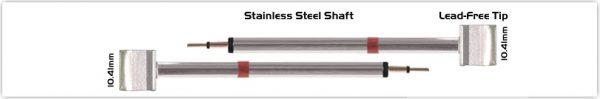 """Thermaltronics K80TZ100 Tweezers Cartridge Pair - Blade Tip 10.41mm (0.41"""")"""
