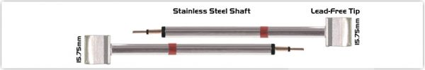 """Thermaltronics K80TZ160 Tweezers Cartridge Pair - Blade Tip 15.75mm (0.62"""")"""