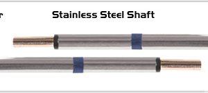 """Thermaltronics M60TZ100 Tweezers Cartridge Pair - Blade Tip 10.41mm (0.41"""")"""