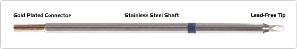 """Thermaltronics M6CH175 Chisel 30deg  2.5mm (0.10"""") interchangeable for Metcal STTC-036"""