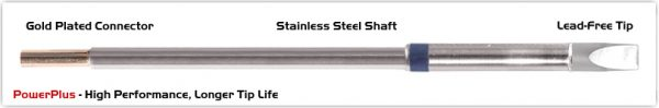 """Thermaltronics M6CH250H Chisel Extra Large 5.0mm (0.20""""), Power Plus"""