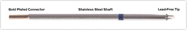 """Thermaltronics M6CP200 Chisel 30deg 2.5mm (0.10"""") interchangeable for Metcal STTC-036P"""