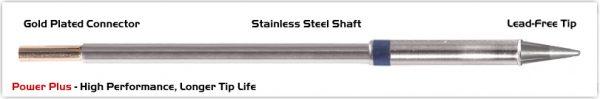 "Thermaltronics M6CS014H Conical Sharp 1.4mm (0.055""), Power Plus"