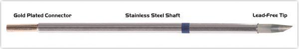 "Thermaltronics M6DS525 Hoof 60deg 3.3mm (0.13"") interchangeable for Metcal SMTC-0147"