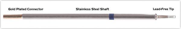 "Thermaltronics M6LR403 Chisel 60deg Long Reach 1.78mm (0.07"") interchangeable for Metcal STTC-042"