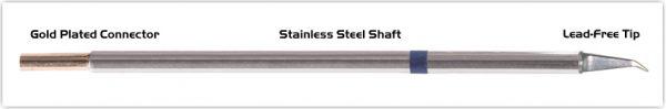 "Thermaltronics M6MD575 Hook Long 30deg Fine 0.51mm (0.02"") interchangeable for Metcal SMTC-0172"
