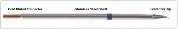 "Thermaltronics M6SB276 Bent Sharp 30deg 0.5mm (0.02"") interchangeable for Metcal STTC-044"