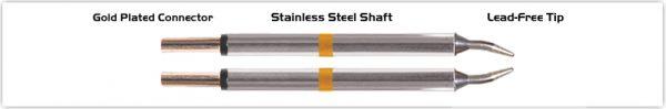 """Thermaltronics M70TZ010 Tweezers Cartridge Pair - Conical Sharp 1.0mm (0.04"""")"""