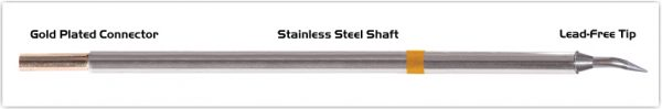 "Thermaltronics M7B325 Bent Sharp 30deg 0.4mm (0.016"") interchangeable for Metcal STTC-140"