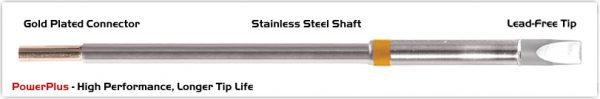 """Thermaltronics M7CH250H Chisel Extra Large 5.0mm (0.20""""), Power Plus"""