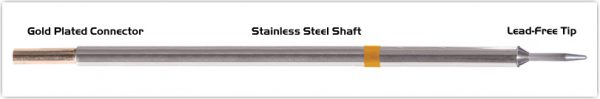 """Thermaltronics M7CS154 Conical Sharp 1.0mm (0.04"""") interchangeable for Metcal STTC-107"""