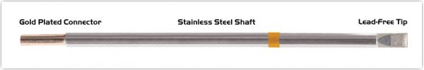 """Thermaltronics M7LC650 Chisel Extra Large 5.0mm (0.20"""") interchangeable for Metcal STTC-165"""