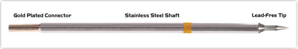 "Thermaltronics M7LR400 Bevel 60deg Long Reach 1.0mm (0.04"") interchangeable for Metcal STTC-146"