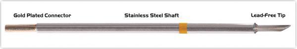 """Thermaltronics M7LR401 Hoof Long Reach 60deg 3.05mm (0.12"""") interchangeable for Metcal SMTC-1170"""