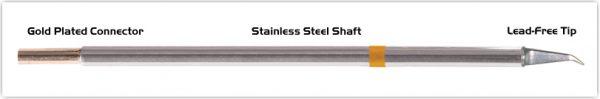 "Thermaltronics M7MD575 Hook Long 30deg Fine 0.51mm (0.02"") interchangeable for Metcal SMTC-1172"