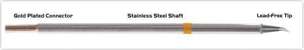 "Thermaltronics M7SB276 Bent Sharp 30deg 0.5mm (0.02"") interchangeable for Metcal STTC-144"