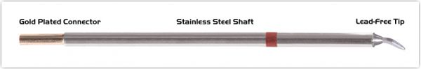 "Thermaltronics M8CB226 Chisel Bent 30deg 1.5mm (0.06"") interchangeable for Metcal STTC-899"