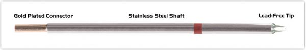 """Thermaltronics M8CP201 Chisel 30deg 1.80mm (0.07"""") interchangeable for Metcal STTC-837P"""