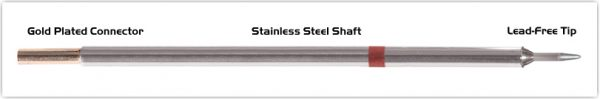 """Thermaltronics M8CS151 Conical Sharp 1.0mm (0.04"""") interchangeable for Metcal STTC-801"""