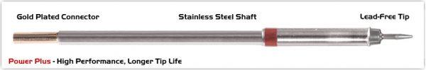 "Thermaltronics M8CS151H Conical Sharp 1.0mm (0.04""), Power Plus"