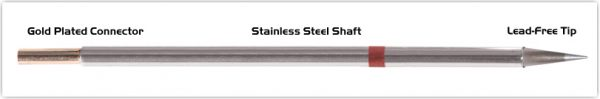 """Thermaltronics M8CS155 Conical Sharp 0.5mm (0.02"""") interchangeable for Metcal STTC-843"""