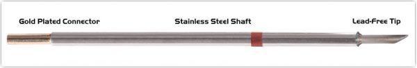 """Thermaltronics M8LR401 Hoof Long Reach 60deg 3.05mm (0.12"""") interchangeable for Metcal SMTC-8170"""