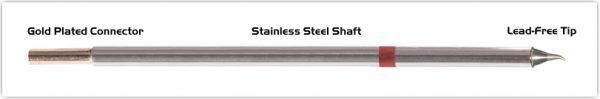 "Thermaltronics M8SB275 Bent Sharp 30deg 0.4mm (0.016"") interchangeable for Metcal STTC-826"