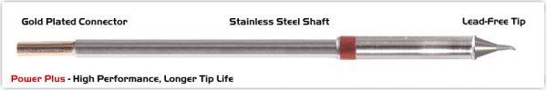 "Thermaltronics M8SB275H Bent Sharp 30deg 0.5mm (0.02""), Power Plus"