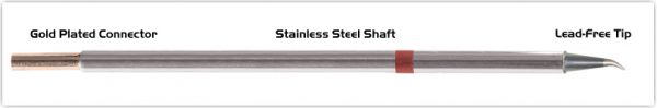 "Thermaltronics M8SB276 Bent Sharp 30deg 0.5mm (0.02"") interchangeable for Metcal STTC-844"