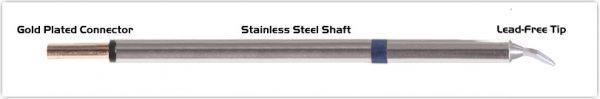 "Thermaltronics PM60CB226 Chisel Bent 30deg 1.5mm (0.06"") interchangeable for Metcal STP-CHB15"