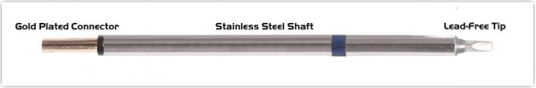 """Thermaltronics PM60CH175 Chisel 30deg  2.5mm (0.10"""") interchangeable for Metcal STP-CH25"""