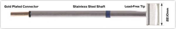 """Thermaltronics PM60LB127 Blade Tip 22.1 mm (0.87"""") interchangeable for Metcal RTP-BL3"""