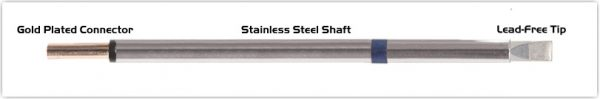"""Thermaltronics PM60LC650 Chisel Extra Large 5.0mm (0.20"""")"""